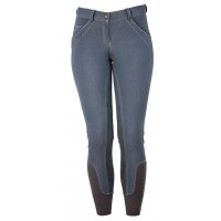 Horseware Ladies Denim Breeches Full Seat Dark Slate