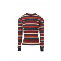 Horseware Long Sleeve Knit Top Autumnal Stripe