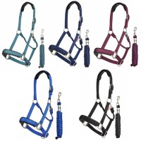 Le Mieux Nylon Headcollar and Leadrope Set