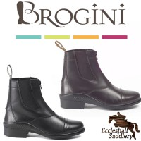 Brogini 401 Tivoli Leather Front Zip Jodhpur Boots